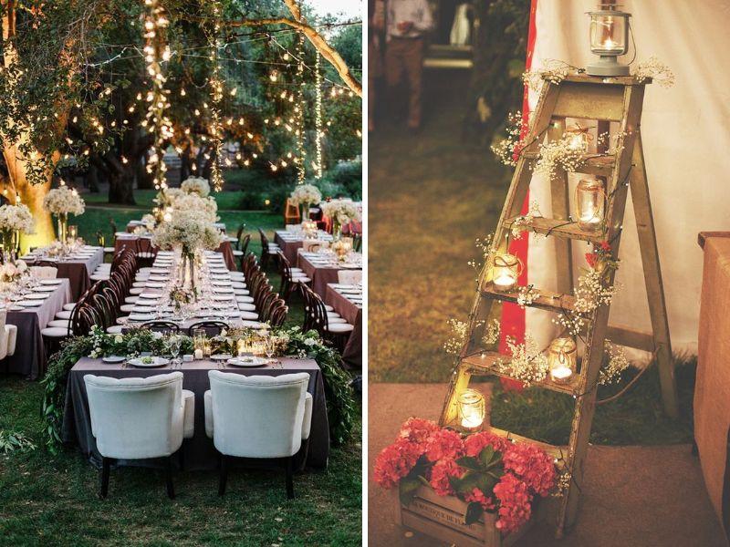 lugares para decorar tu boda vintage