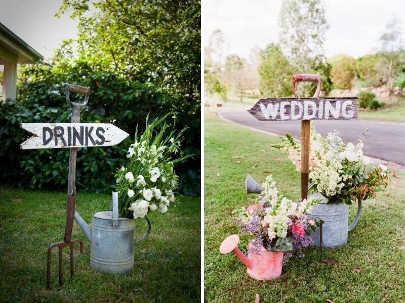 señales para decorar tu boda vintage