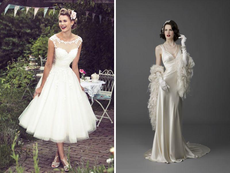 decoración de tu boda vintage y vestidos
