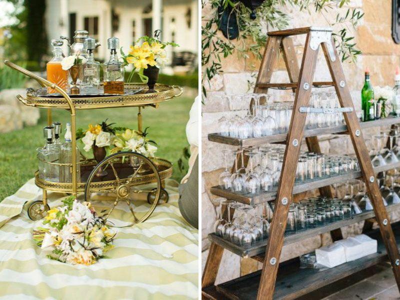 decorar tu boda vintage con bebidas