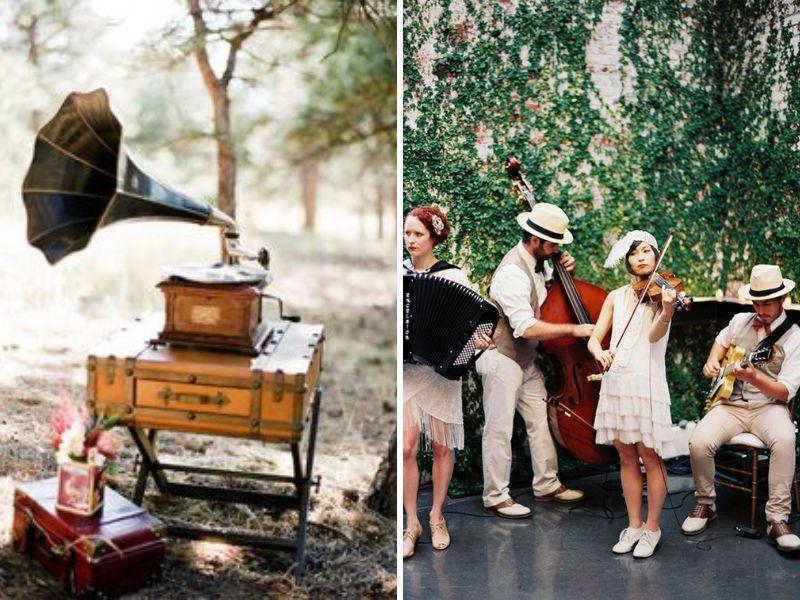 decorar tu boda vintage con música