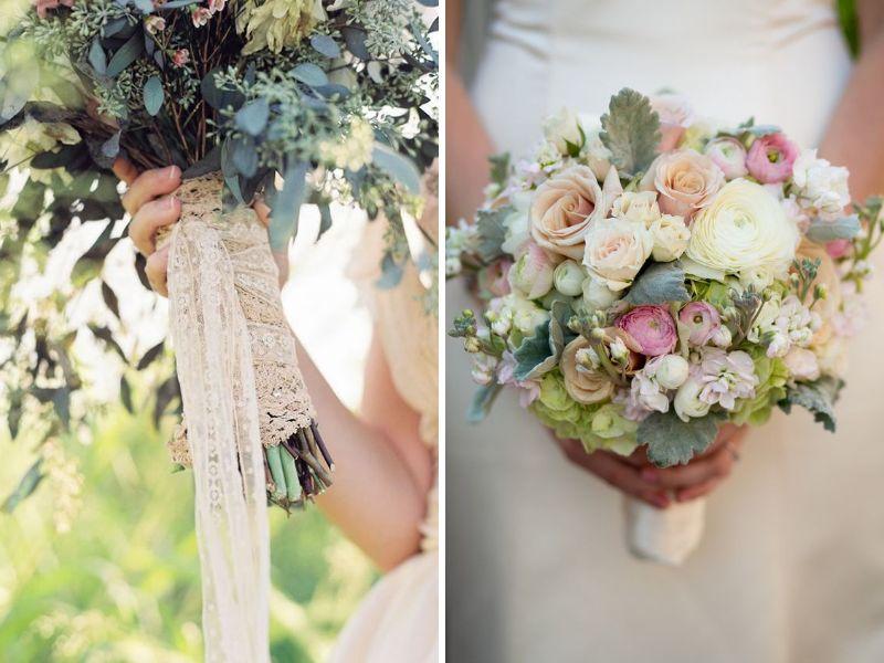 decorar el ramo de boda vintage
