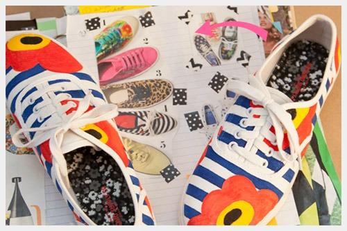 decorar zapatos viejos con flores