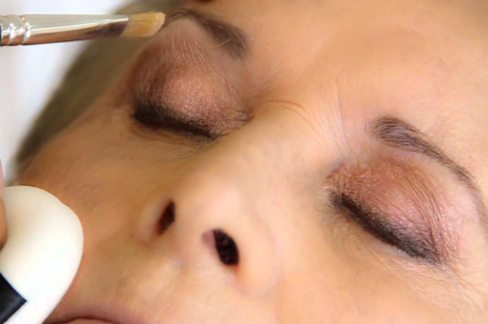 sombras en maquillaje de maduras