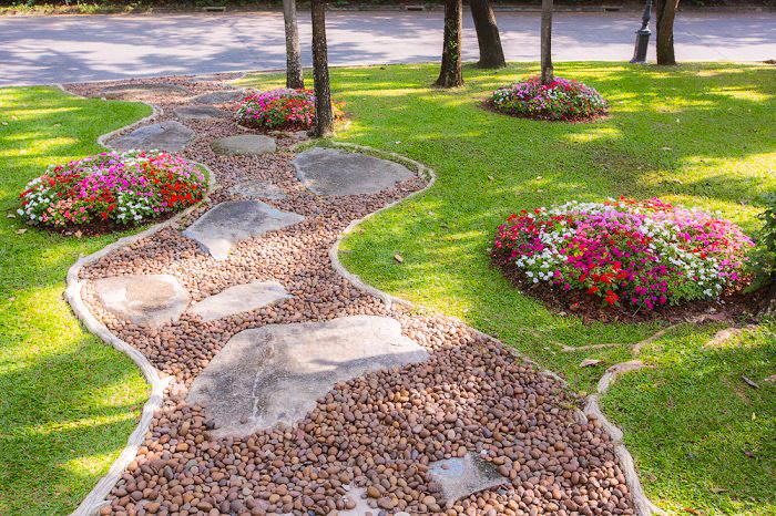 La mejor decoraci n de jardines con piedras 3 ideas for Camino de piedras para jardin