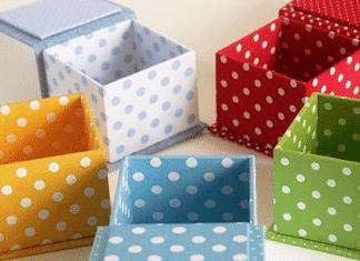 decorar cajas de cartón