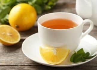 té verde con miel