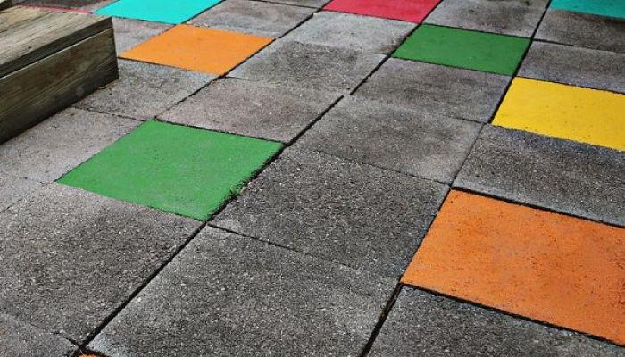 Pintura para suelos de terrazo saln con chimenea y suelo de terrazo with pintura para suelos de - Pintura de suelos ...