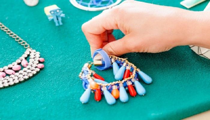 organizador de joyas de velcro