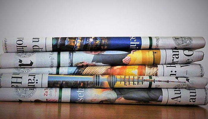 manualidades de papel periódico