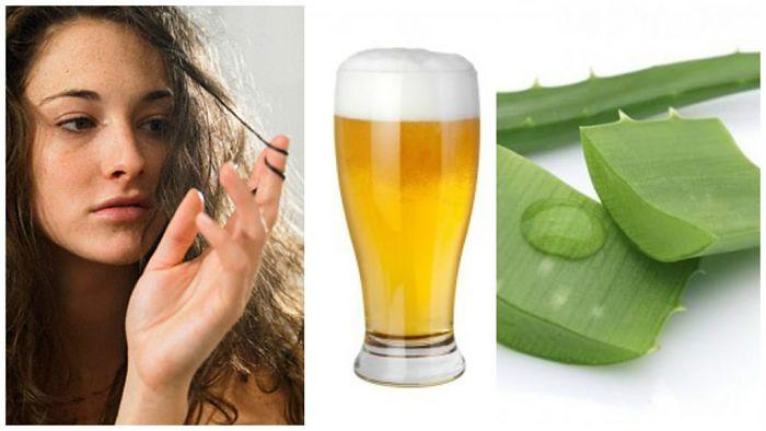 Tratamientos naturales para el cabello con aloe vera y levadura