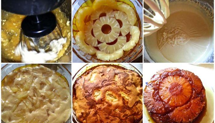 torta casera de piña
