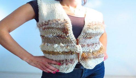 cómo hacer un chaleco de lana