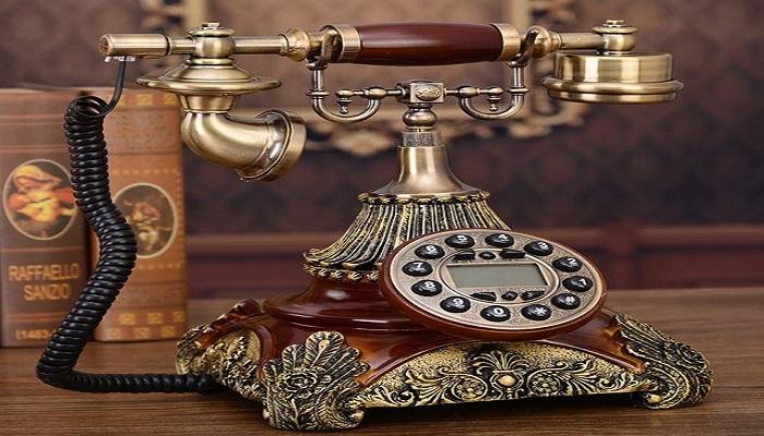 un teléfono vintage