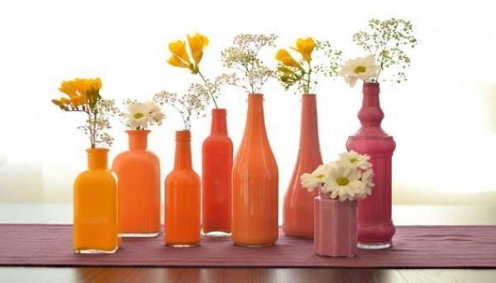 pintar botellas de cristal